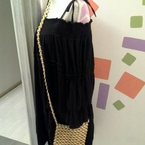 none Bags - 🐚Vintage 70's wooden beaded crossbody purse